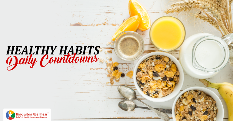 Healthy Habits Daily Countdowns