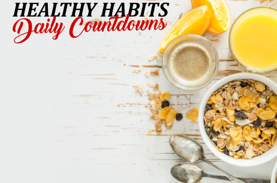 9 Healthy habits daily countdowns